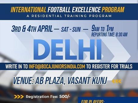 BOCA JUNIORS FOOTBALL TRIALS NEW DELHI