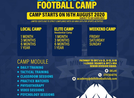 DELHI FC FOOTBALL CAMP | FOOTBALL ACADEMIES IN INDIA