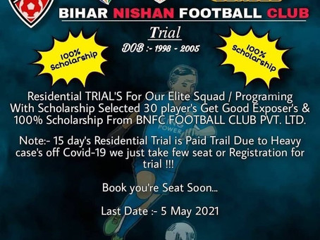 BIHAR TRIALS | UPCOMING FOOTBALL TRIALS IN INDIA