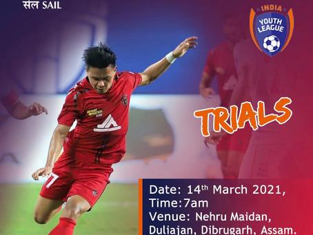 SAIL FOOTBALL ACADEMY   FOOTBALL TRIALS ASSAM