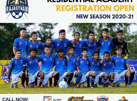 RAJASTHAN FC REGISTRATION FOR 20-21 SESSION