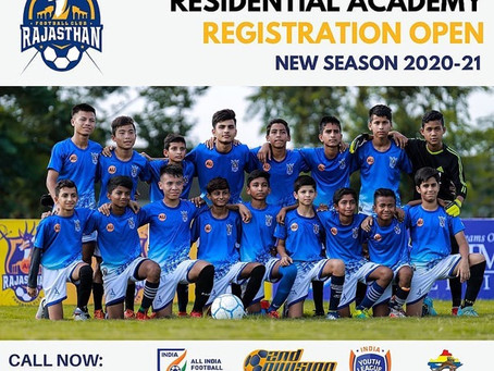RAJASTHAN FC REGISTRATION FOR 20-21 SESSION
