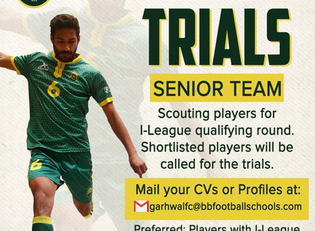 Garhwal Heroes FC Trials | Upcoming football trials in India