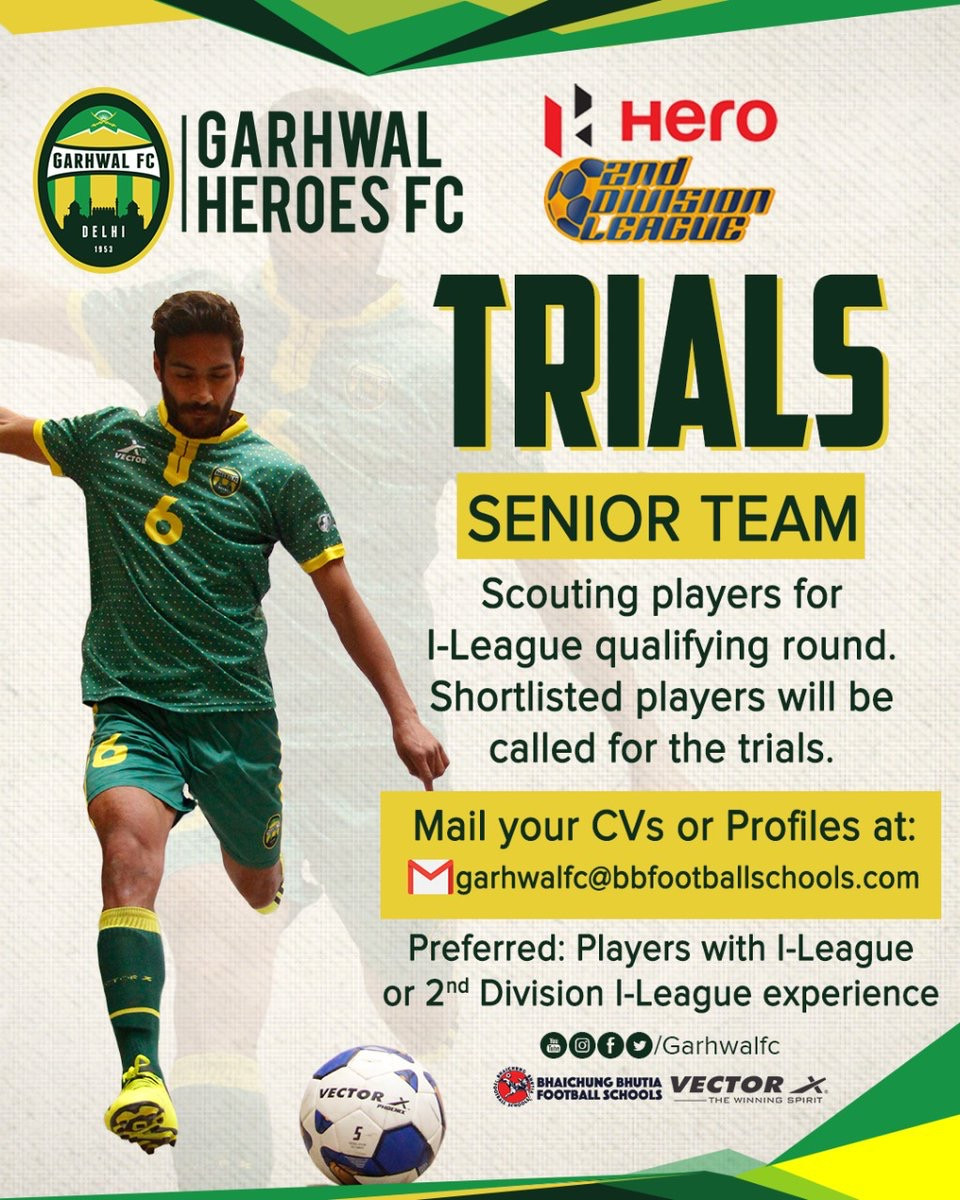 Garhwal FC football trials | Upcoming football trials in india