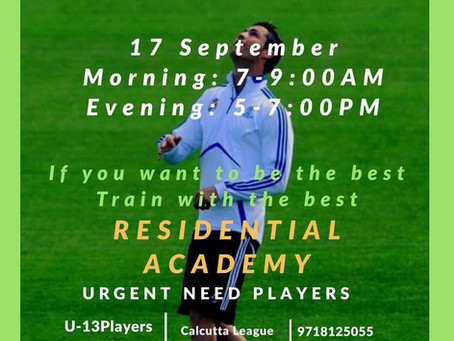 ACADEMY FOOTBALL ARENA | UPCOMING FOOTBALL TRIALS IN INDIA