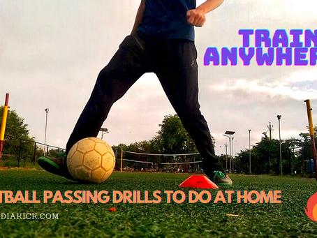 FOOTBALL PASSING DRILLS AT HOME!!
