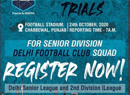 PUNJAB TRIALS (DELHI FC) | UPCOMING FOOTBALL TRIALS IN INDIA