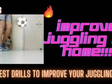 FOOTBALL JUGGLING DRILLS AT HOME!!
