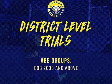 Kashmir FC TRIALS | UPCOMING FOOTBALL TRIALS IN INDIA