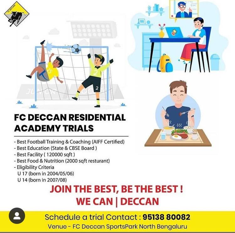 FC Deccan Football trials bengaluru | Upcoming Football Trials in India
