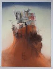 Medium: Pastel, pencil, watercolour + charcoal on paper