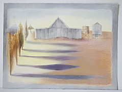 Medium: Pencil, watercolour, charcoal + pastel on paper