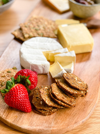 Enjoy with a cheese board