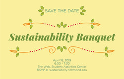 Sustainability Banquet Save the Date