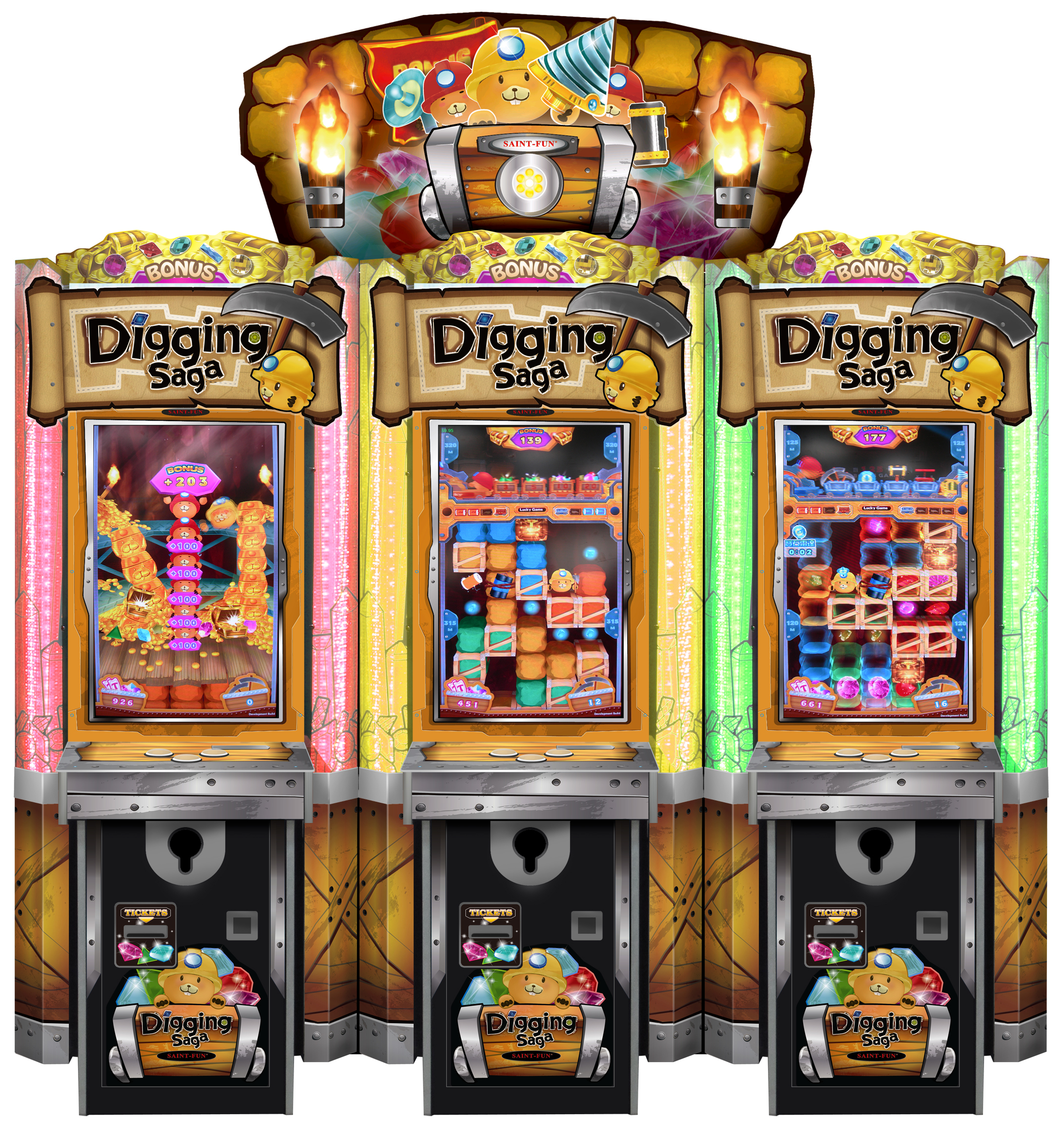 Digging Saga 3 machines