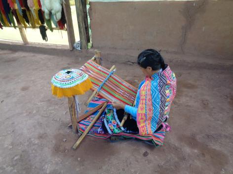 Textile weaving demonstration, Peru May 2017