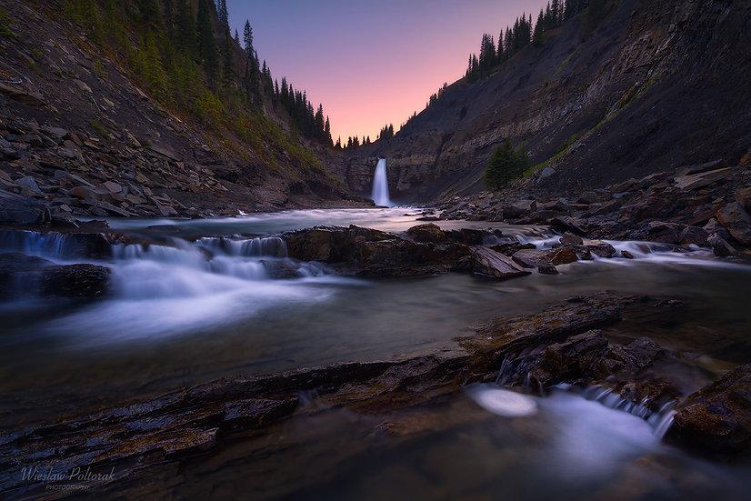 Waterfall at Dusk, Alberta