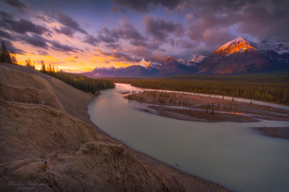 Sunrise over Athabasca River