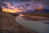 Sunrise over Athabasca River