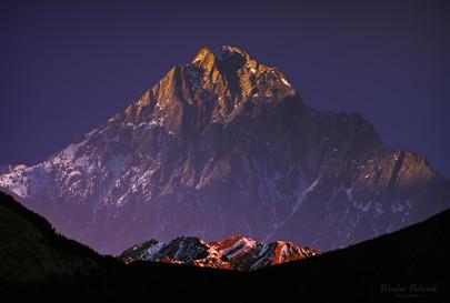 Mt. Lorette - Double Exposure Composition