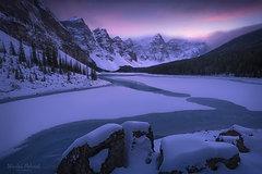 Moraine Lake Winter Embrace Banff National Park