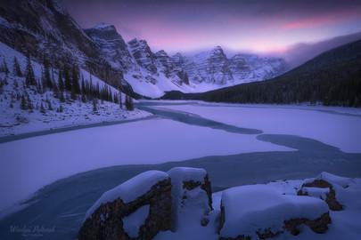 Moraine Lake - Winter Embrace