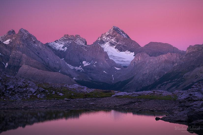 Alpine Glow over Spray Mountains, Kananaskis Country