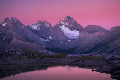 Alpine Glow over Spray Mountains