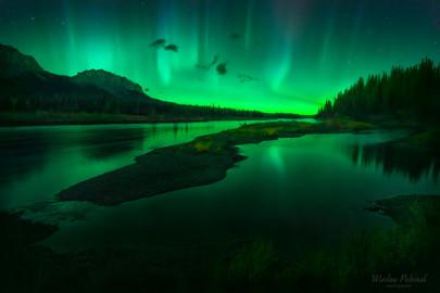 Bow River Light Show