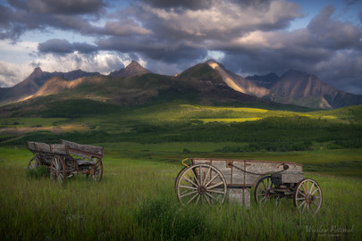 Glimpse of the past - Alberta Foothills
