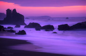 Dusk over California Coast