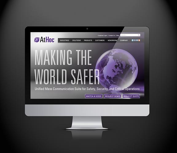 Athoc Website Design