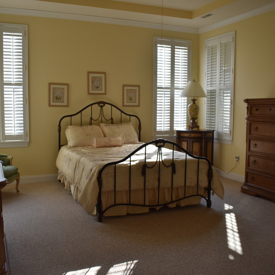 First floor master suite with large bath