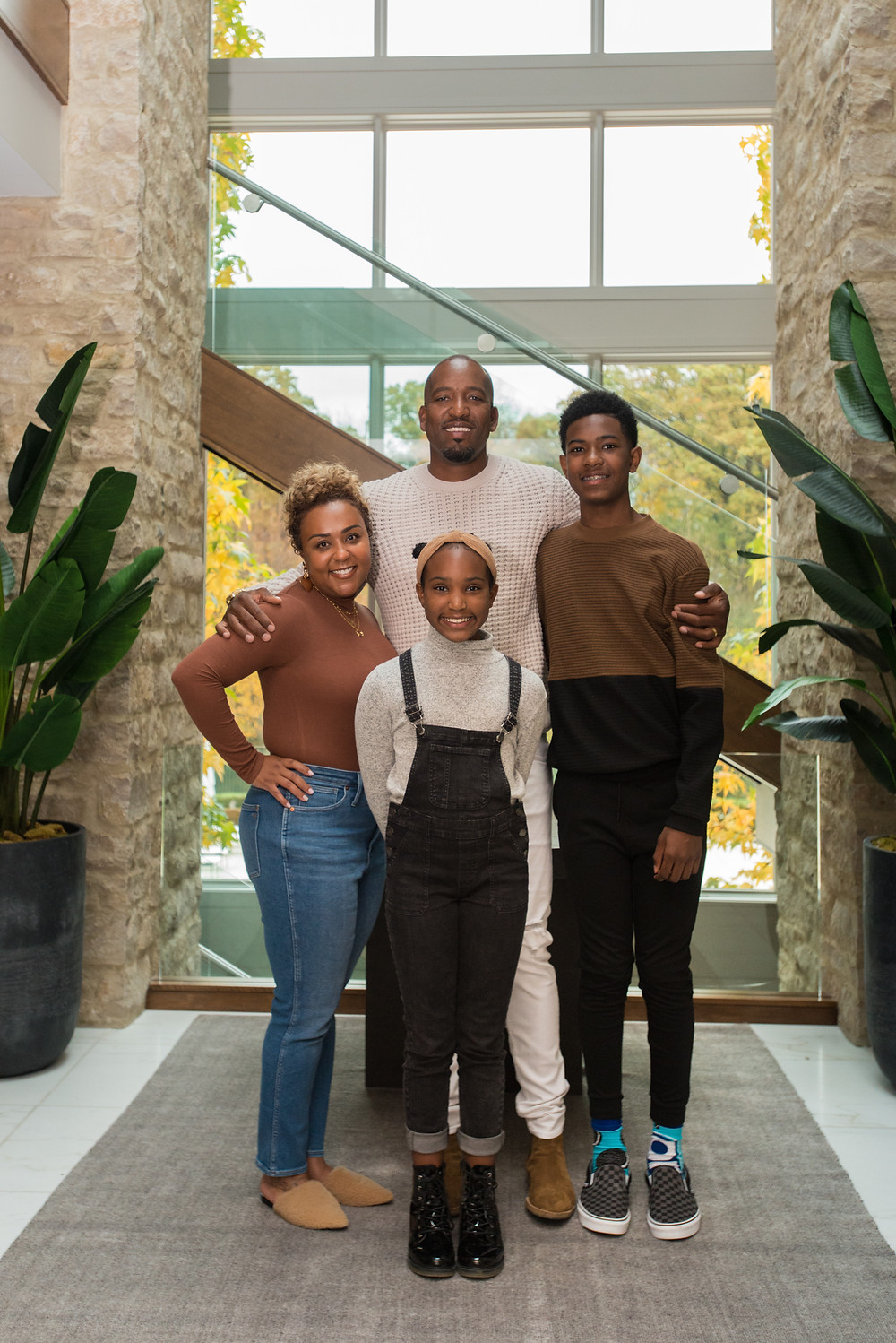 Michael Redd and family inside their house