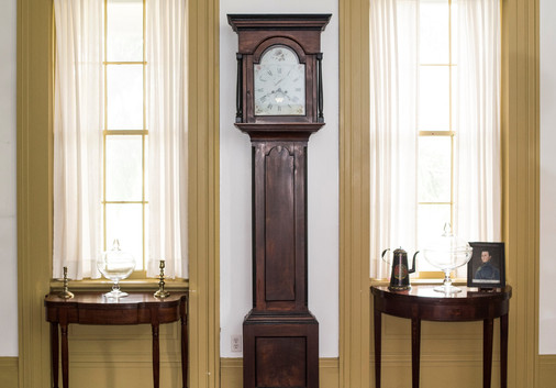 This Alexander Cook tall case clock is one of several early and important clocks in the auction
