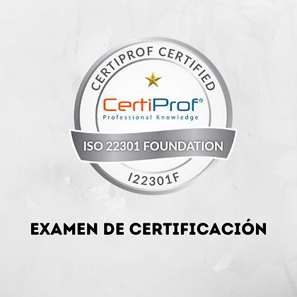 Examen ISO22301 Foundation Professional