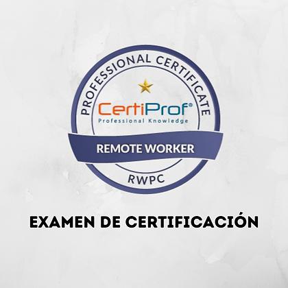 Examen Remote Worker Professional
