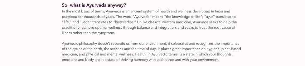 description of Ayurveda