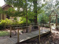 Bridge to pool yard