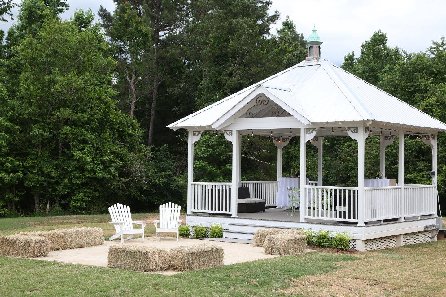 Gazebo hay seating