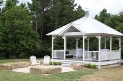 Gazebo hay seating