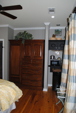 Haven armoire and kitchenette