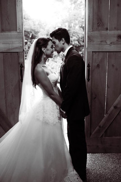 Wedding forehead kiss