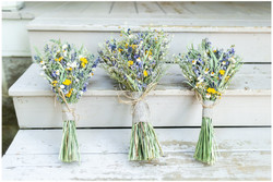 Bouquets at bnb porch steps