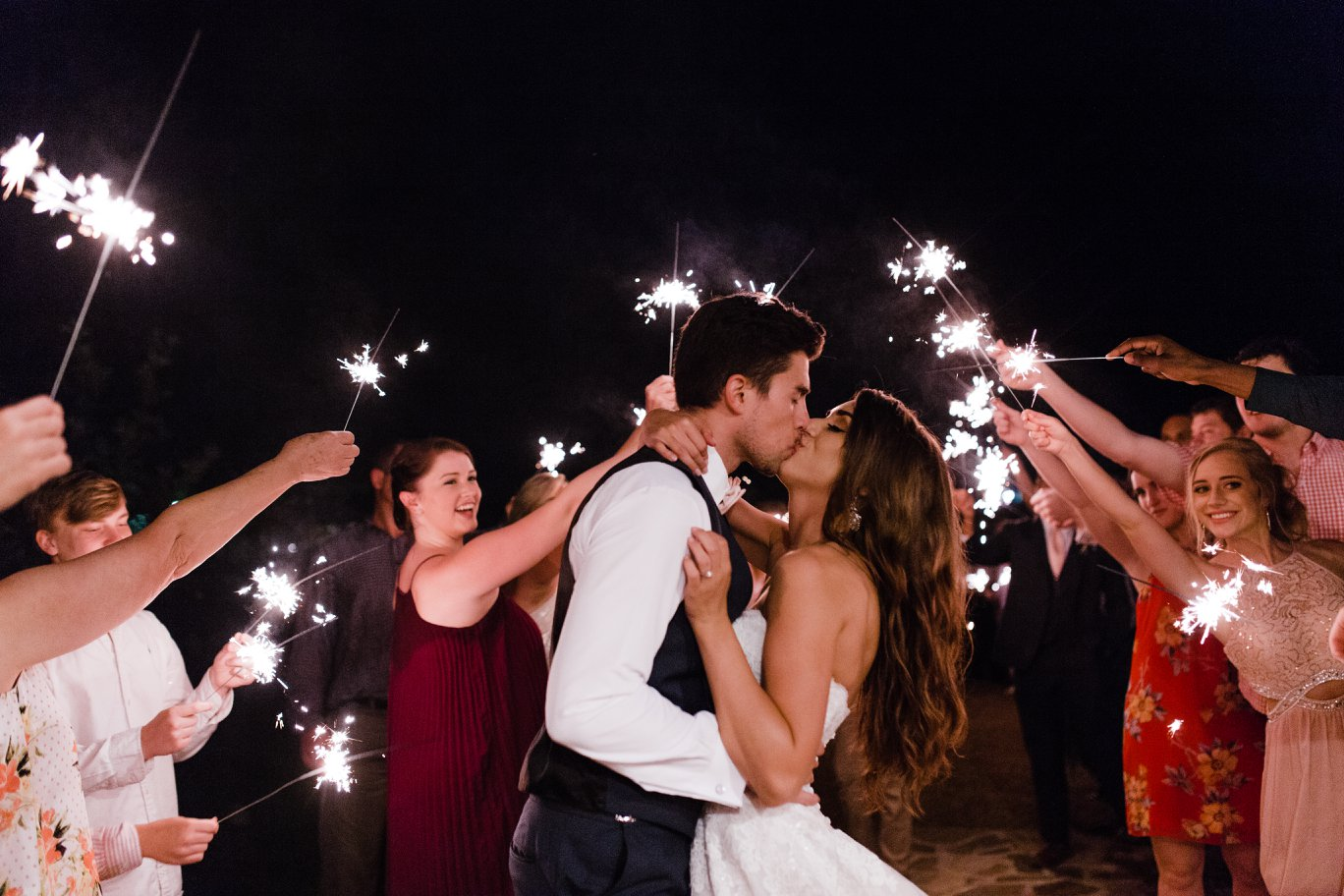 Getaway with sparklers