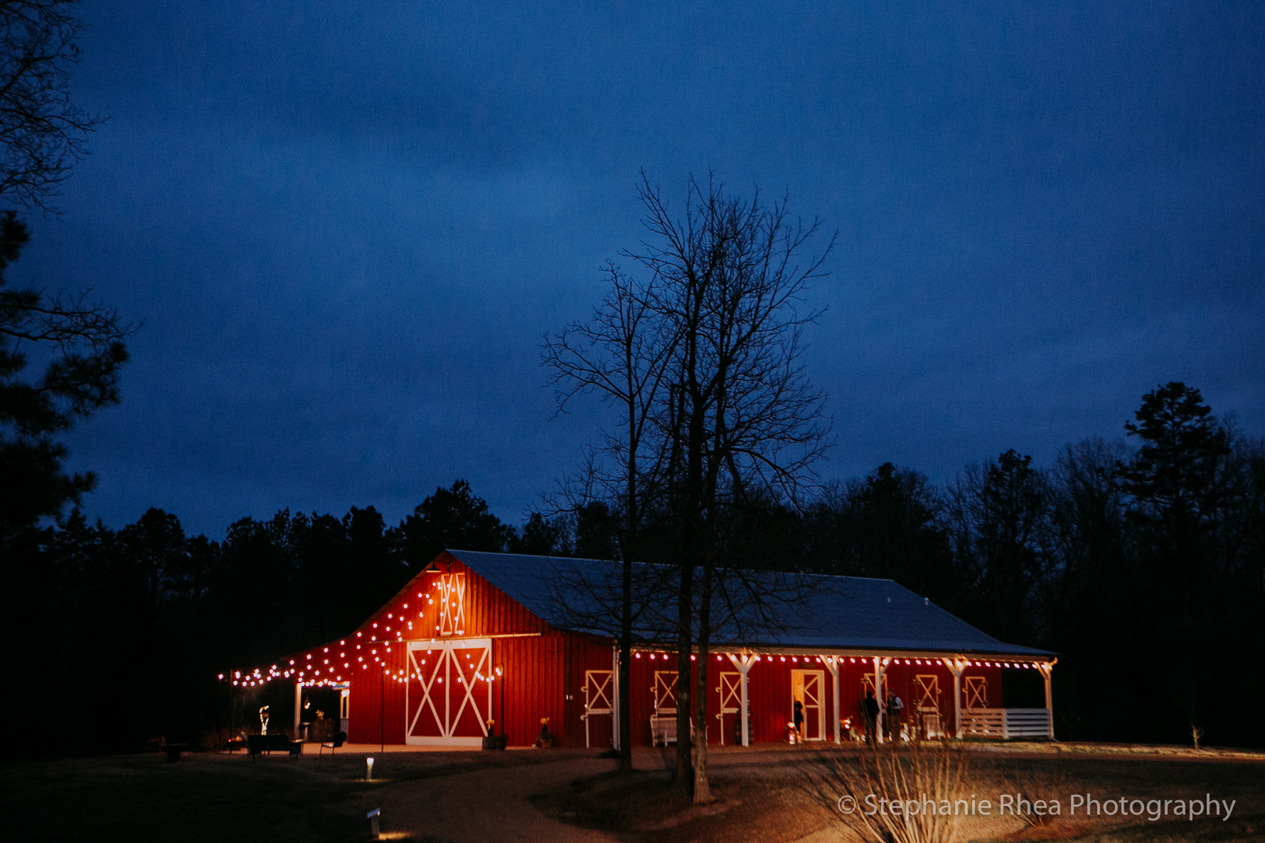 Event Barn at Night