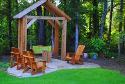 Backyard arbor