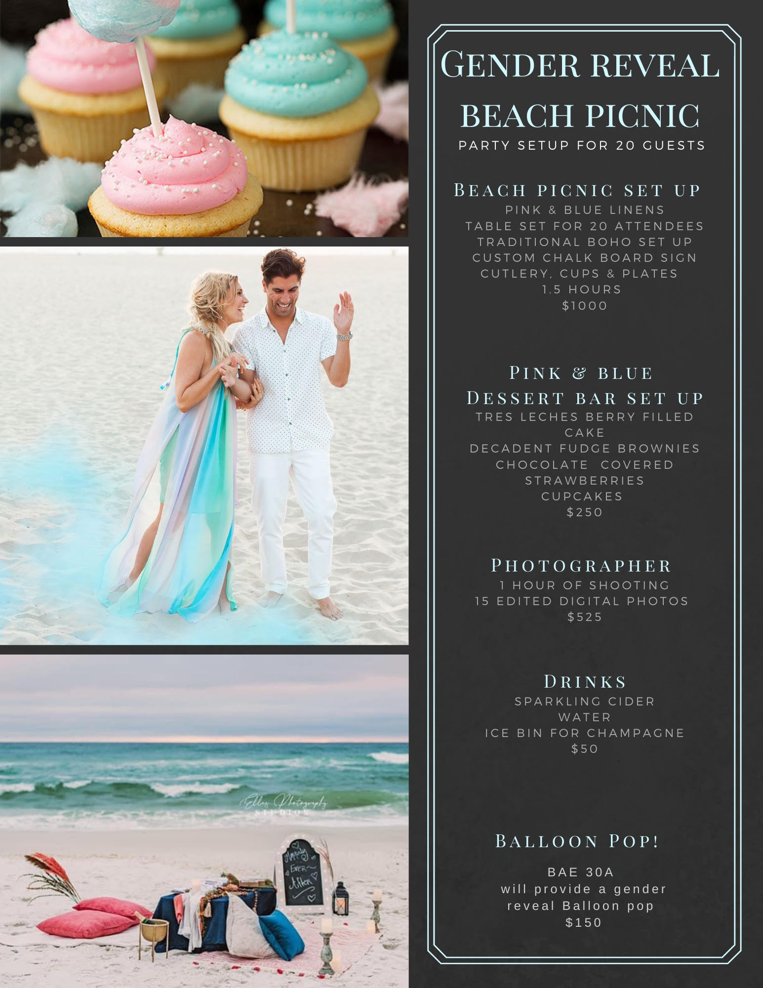 Gender Reveal Party Package