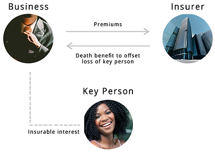 Key Person Insurance Graphic - How does it work?