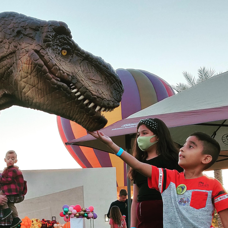 Balloon Boy Meets Toby the Dinosaur